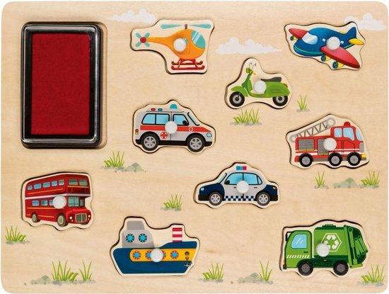 Thumbnail van een extra afbeelding van het spel Stempelpuzzel - kids - vanaf 2 jaar - educatief - leren - spelen - fsc hout