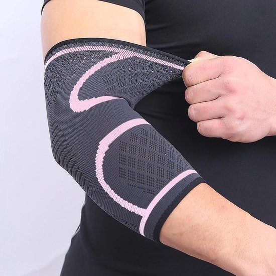 Armbrace - Elleboog Brace - Tennis Elleboog - Golf Arm - Tennisarm Brace - Elleboog Ondersteuning - Artrose - Reuma - Roze