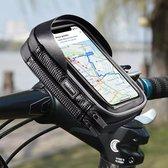 DistinQ Telefoonhouder voor fiets en motor – dubbel opbergvak - waterdicht