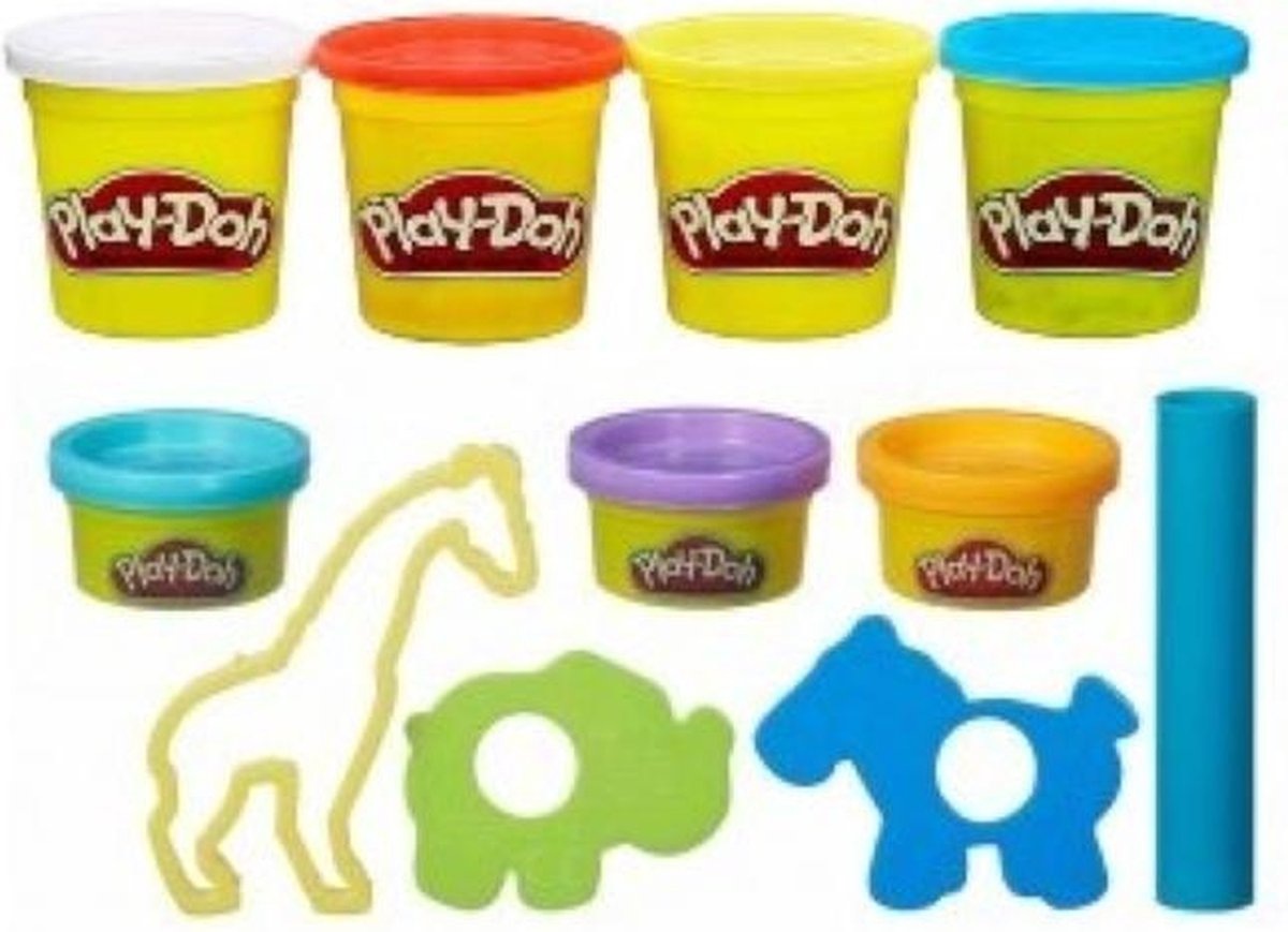 Play-Doh Animal Tools + 7 Potjes klei (532 gram)