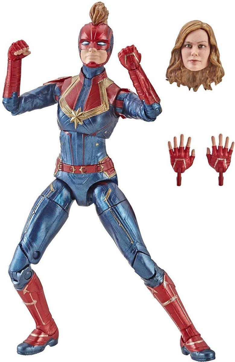 Captain Marvel 15 cm Legends Series - Captain in costume - Beeldje voor verzamelaars, kinderen en fans
