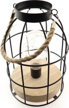 Tafel lamp – Industrieel – Bladeren – Bloemen – Modern – Goud – Zwart – Hout – Led - Batterij