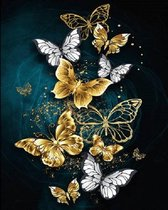 Lienz® Diamond Painting volwassenen 40x50cm – Rond - Vlinders - Volledig - Pakket Volwassenen en Kinderen