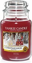 Yankee Candle Christmas Magic geurskaars - 18 x 10 cm - Houtig