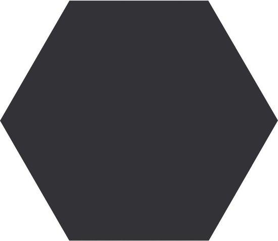 1,16m² - Hexagon / zeshoek vloer- en wandtegels - Timeless Black Mat 15x17