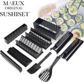 MAEUX® 13-delige Sushi maak Set - Twee Paar Eetstokjes - Sushi maker - Vormen - Sushi kit - Sushi maken - Sushi set - Sushi vorm - Sushi Bazooka - Meerdelige sushiset - Sushi making set - Sushi mal - Sushi roller