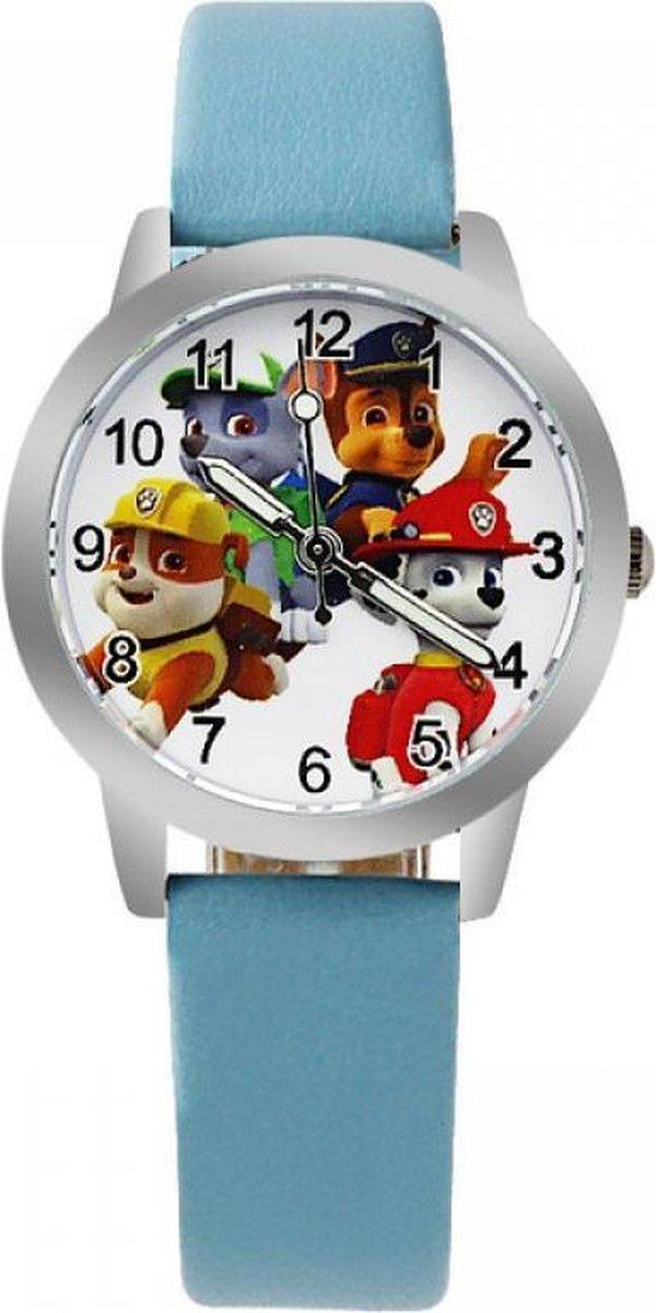 Paw Patrol horloge (met 4 hondjes) met glow in the dark wijzers