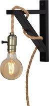 Wandlamp - Touw - Zwart