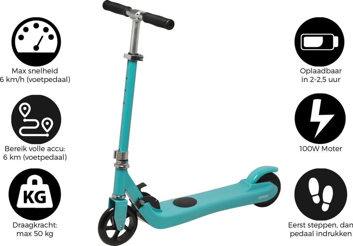 """Denver SCK-5300 BLUEMK2 Elektrische step 5"""""""" wielen kick scooter voor kinderen inklapbaar Maximale snelheid 6km Blauw online kopen"""
