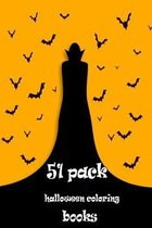 51 pack halloween coloring books
