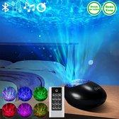 Sterren Projector - Bewegende Lichten en Muziek – 10 verschillende lichtstanden - Zwart