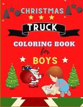 Christmas Truck coloring book for boys