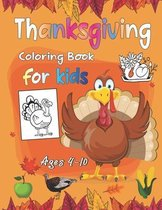 Thanksgiving Coloring Book For Kids Ages 4-10