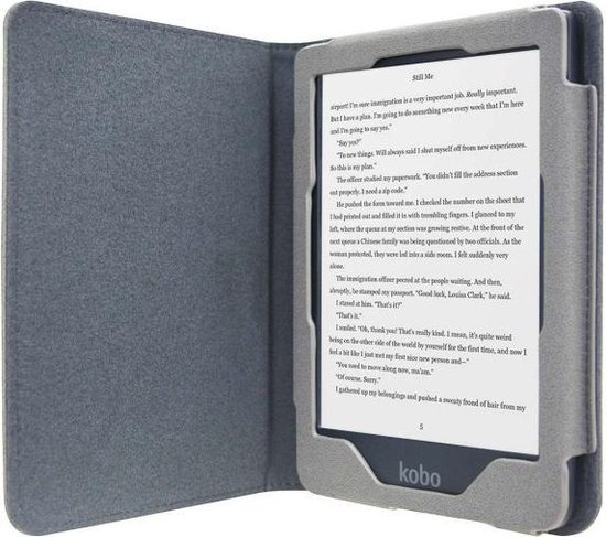 Soft Premium Sleepcover voor Kobo Clara HD - Petroleum Grijs - Hoesjes Boetiek