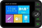 "Auto DAB / DAB + radioadapter 2,4 ""LCD Bluetooth FM-zender Handsfree bellen Carkit MP3-speler Muziekontvanger, draagbare digitale radio met USB-poort / SD-kaart / AUX-uitgang / DAB-antenne"