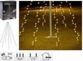 Fairybell Vlaggenmast verlichting - 192 LED's - 208 cm hoog - warm wit licht - waterdicht
