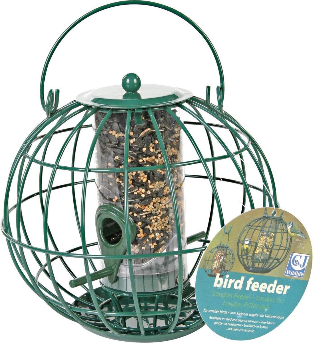 CJ Wildlife London - Vogelvoederhuisje - Groen - 21 cm