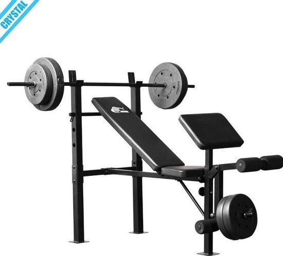 Cristal Kwaliteits Merk Gewichtheffen, Bench, krachtstation, Halterbank, Fitness Gym Apparatuur - levering kan langer duren als normaal