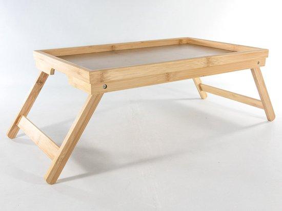 Bedtafel Bamboe. 50x30x4|20. poten uitklapbaar | Dienblad. Bed Tafel. Tafeltje