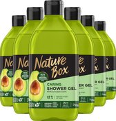 Nature Box Avocado Vegan Douchegel - 385ml - 6 stuks - Voordeelverpakking