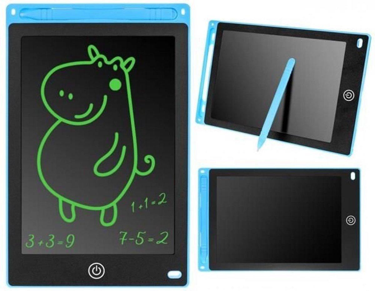 """Tekentablet voor kinderen - Blauw - 8,5"""" - Notitieblok - Grafische tablet - Tekenbord kinderen - Tekentablet - LCD Tekentablet kinderen - Grafische tablet kinderen - Kindertablet Blauw"""