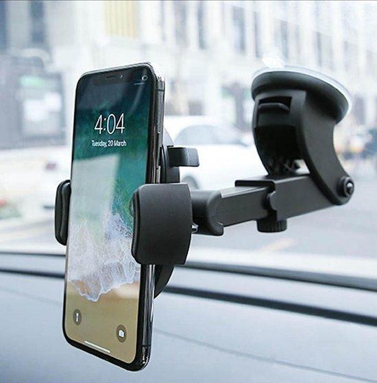 Afbeelding van R2B Telefoonhouders auto met zuignap - Geschikt voor raam, dashboard en bureau - Gsm houder auto