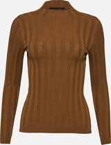 High neck sweater - Camel