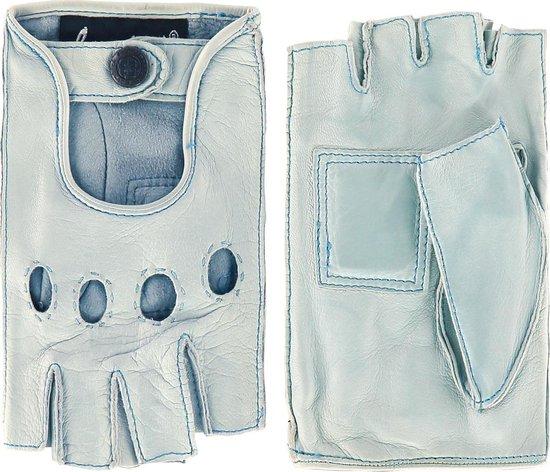 Leren autohandschoenen dames met halve vingers model Las Vegas Color: Gobi, Size: 7.5