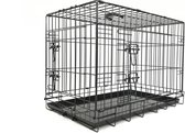Adori Bench 2-Deurs De Luxe Zwart - Hondenbench - 123x77x83 cm