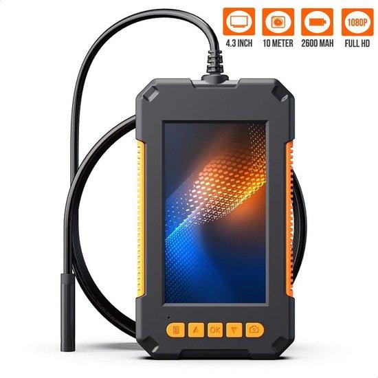 Strex Inspectiecamera met Scherm 10M - 1080P HD - 4.3 inch LCD scherm - IP67 Waterdicht - LED Verlichting - Endoscoop - Inspectie Camera
