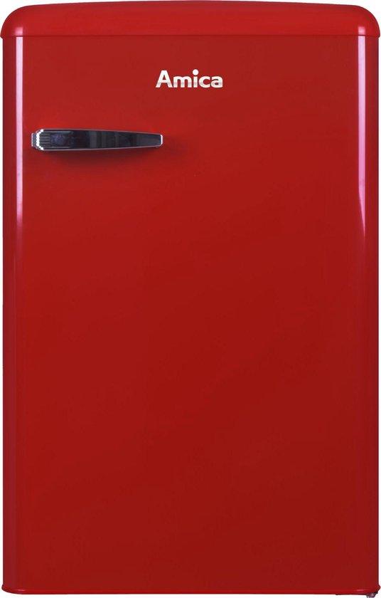 Koelkast: Amica AR1112R - Tafelmodel Koel-vriescombinatie - Rood - A++, van het merk Amica