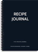 Fitly - Receptenboek Invulboek - Recepten Verzamelboek - Recepten Notitieboek - Recepten Invulboek
