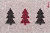 Zita kerst deurmat - kerstboom - Mad About Mats - 50x75cm