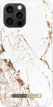 iDeal of Sweden - iPhone 12 Pro Max Hoesje - Fashion Back Case Carrara Gold