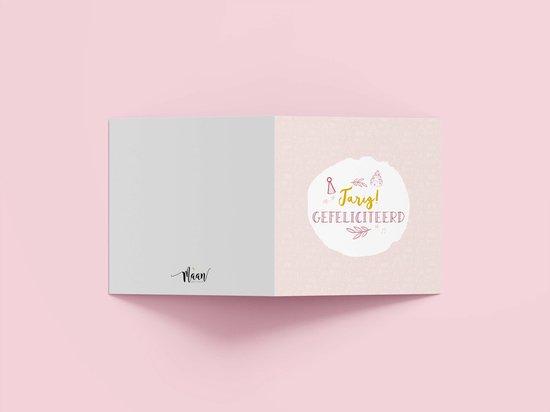 Wenskaarten verjaardag/feest - set van 6 dubbele kaarten - inclusief enveloppen