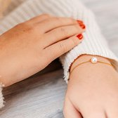 Yolora Lovables dames armband met Swarovski kristal - 18K geelgoud vergulde armband - YOL-B009-YG-CC