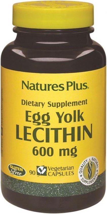 Egg Yolk Lecithin, 600 mg (90 Veggie Caps) - Nature's Plus