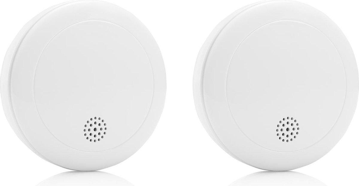 Smartwares RM218 Rookmelder - 2 stuks - 10 jaar batterij - Testknop - Inclusief montageset - FSE-192