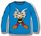 "Asterix & Obelix - Longsleeve - Model ""Asterix Sticking His Tongue Out!"" - Blauw - 98 cm - 3 jaar - 100% Katoen"