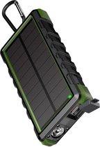 24.000 mAh Waterdichte Outdoor Solar Powerbank - Groen