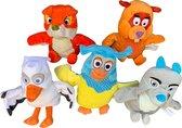 Pluche Fabeltjeskrant Super set 5 |Fabeltjeskrant poppen - Ooievaars vogels knuffels - Poppentheater speelgoed kinderen | Fabeltjeskrant Knuffel |