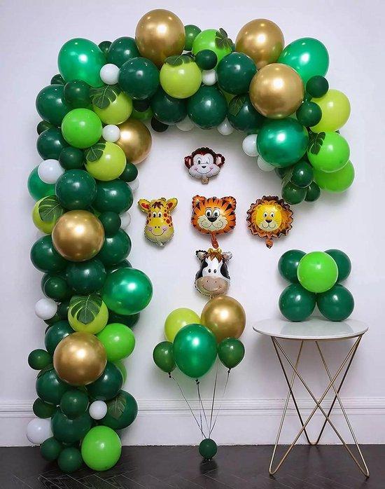 Baloba® BallonnenBoog Jungle - Feest Versiering Confetti Ballonnen - Verjaardag Versiering - 144 Helium Ballonnen