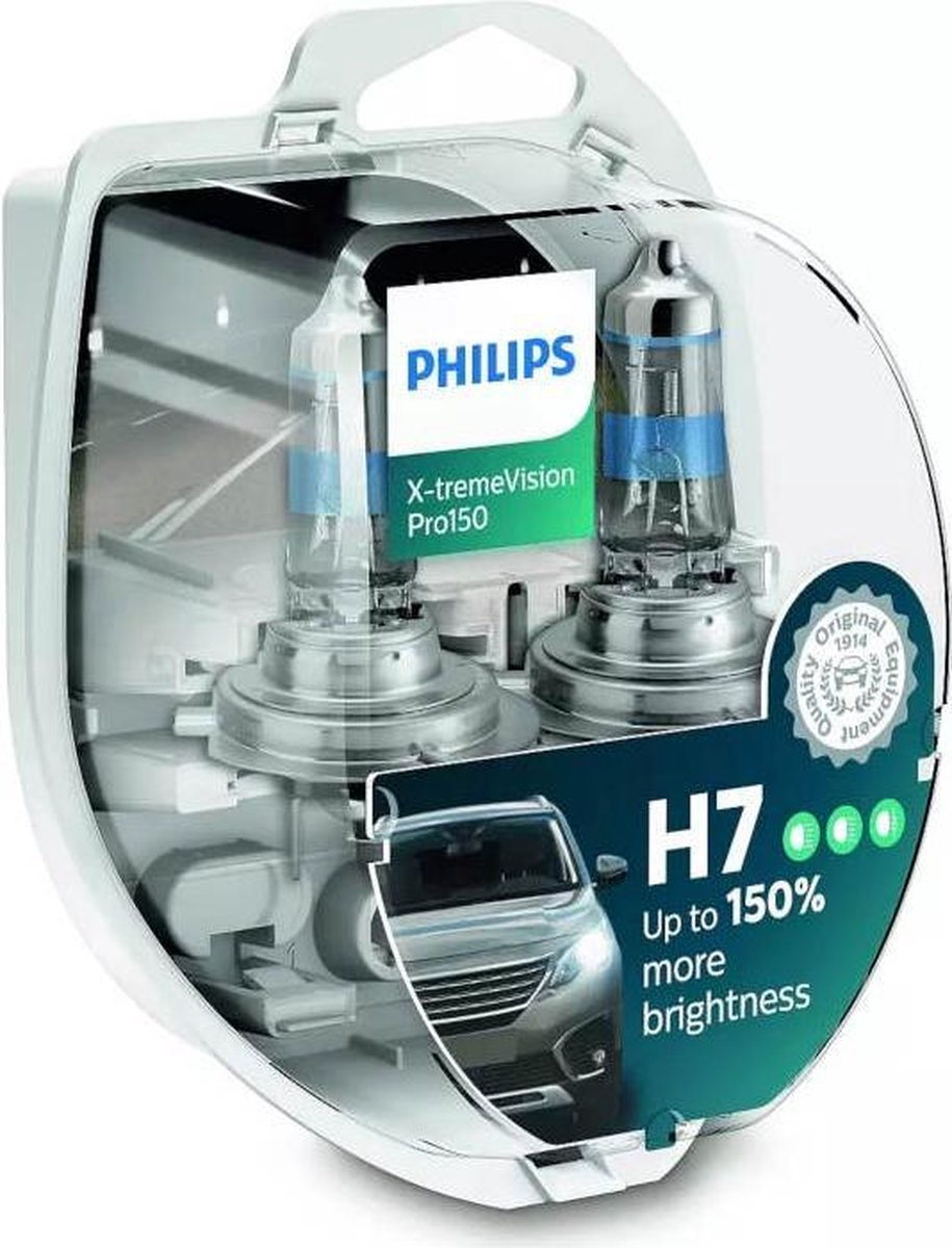 Philips Reservelampen Auto H7 X-tremevision Pro150 55w 2 Stuks