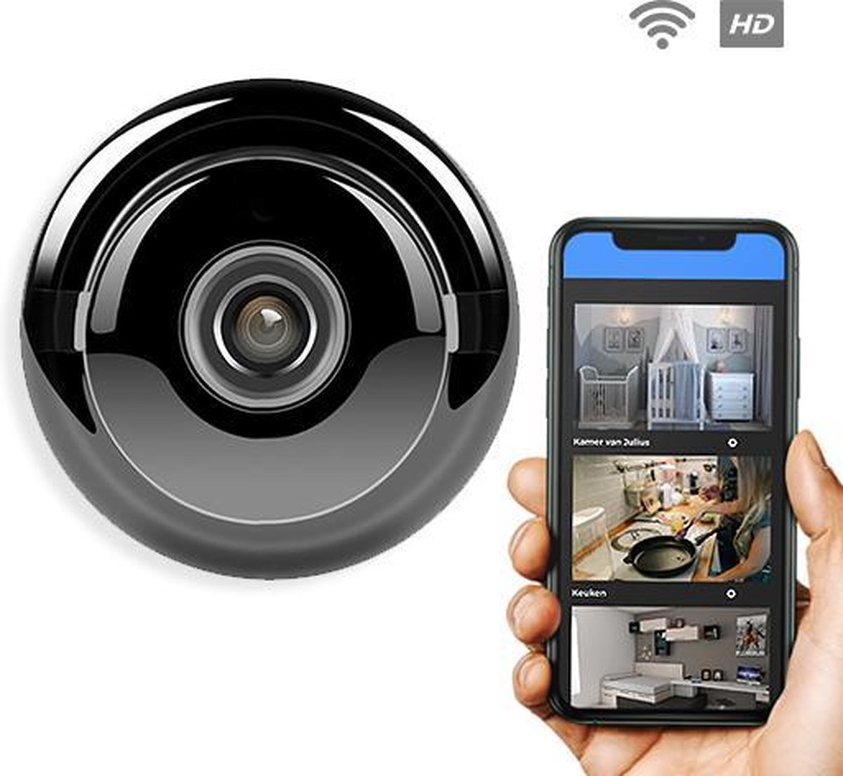 Spy Camera - WiFi - Bewegingsdetectie - Infrarood Nightvision - Beveiligingscamera - Camerabeveiligi