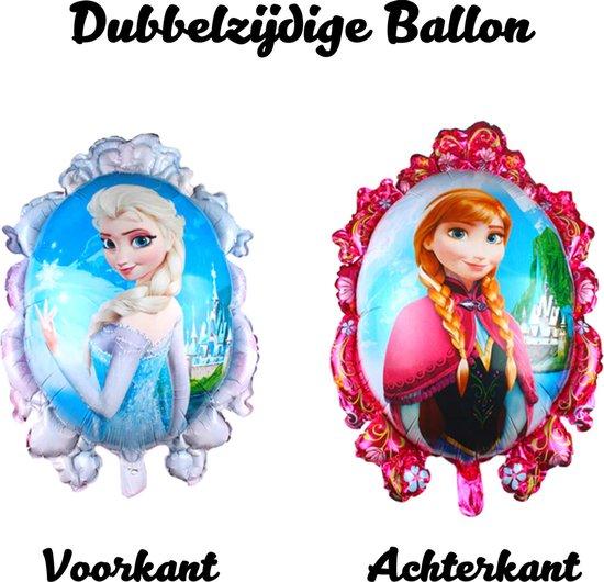 Frozen Ballon - Disney - 82 x 63 cm - Inclusief Opblaasrietje - Ballonnen - Ballonnen Verjaardag - Helium Ballonnen - Folieballon - Disney Princess - Elsa - Frozen 2 - Ballon Groot - Ballon Film