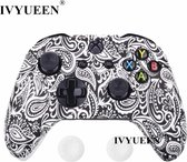 Xbox One Controller Skin | Controller hoesje + Thump grips | black leaves