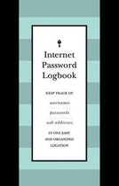 Internet Password Logbook (Black Leatherette)