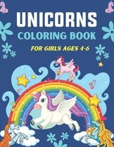 Unicorns Coloring Book for Girls Ages 4-6