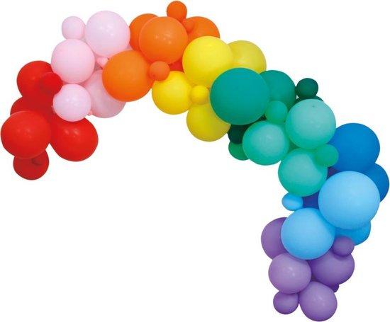Ballonnenboog Zelf Maken Set Regenboog 4m