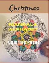 Christmas Mandala Alphabet Coloring Pages